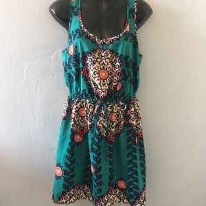 BeBop Turquoise Floral Dress Size M
